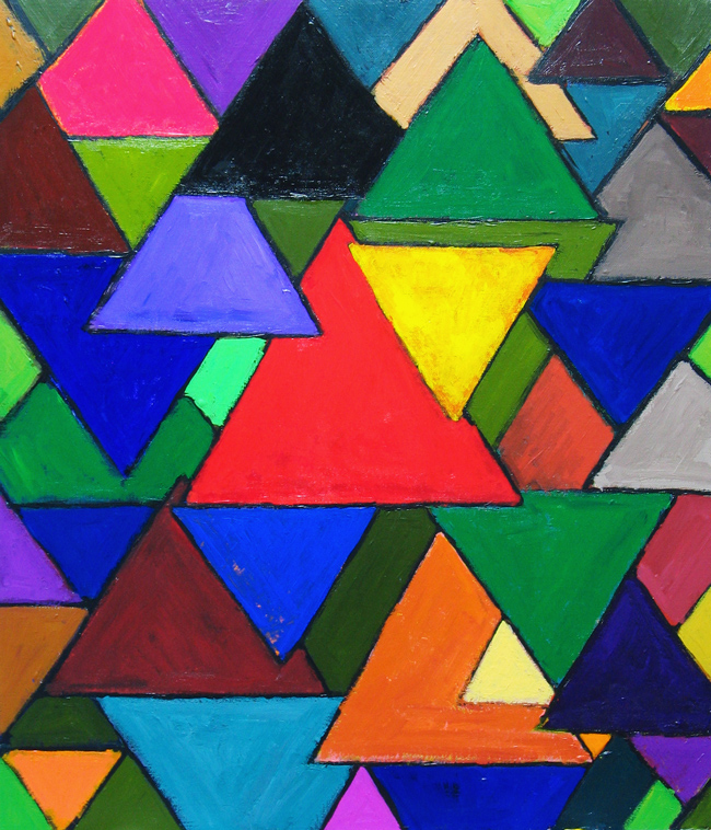 triangle colorful triangles art - photo #27