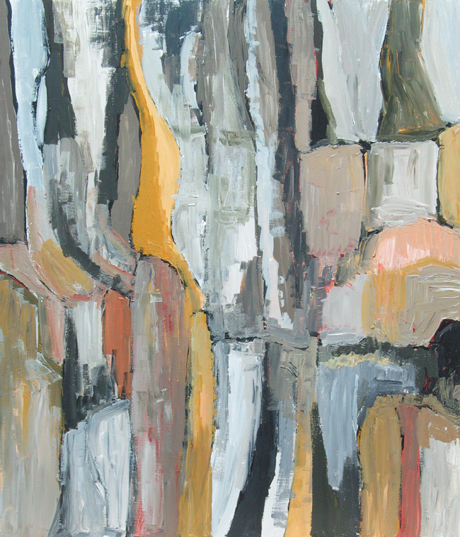 """""""Earth Color Conservative Landscape"""": Abstract, Black"""
