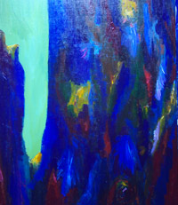 Blue Precipice : abstract landscape