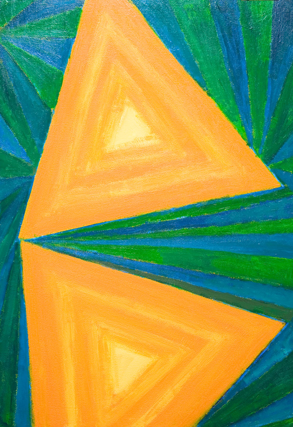 """Partial Triangles"": geometric pattern, stripe pattern ..."