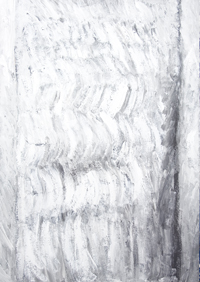 White Tree Trunk : New, abstract, white miniamlism,  minimal expressionism, botanical, minimal symbolism, subtle brush strokes, acrylic minimalist tree painting #6930, 2007 | Kazuya Akimoto Art Museum