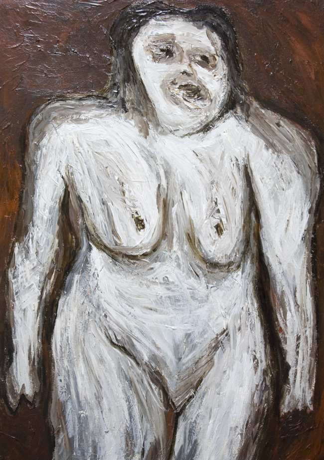 Ugly Fat Woman : new,  abstract texture,  distorted human figure, expressionism, woman body form, female portrait, abstract figurative painting #7075, 2008 | Kazuya akimoto Art Museum