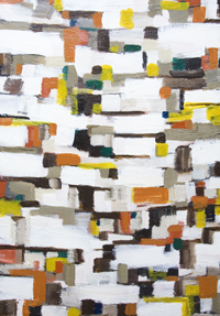 Abstract Satellite View of NYC : New, abstract cityscape, abstract geography, streetscape, abstract map pattern painting , abstract geometric pattern, abstract expressionism, acrylic painting #7277, 2008 | Kazuya Akimoto Art Museum