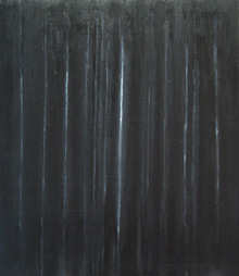 """Black Legend: black minimalism, contemporary black pattern, black expressionism, vertical pattern, abstract black painting"